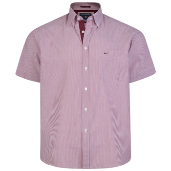 KAM Overhemd Stripe Burgundy -  - Melvinsi