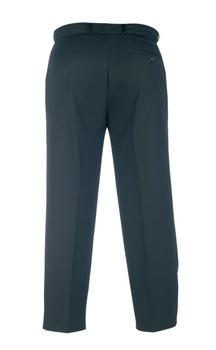 D555 Elegante pantalon met knoop - haaksluiting en riemlussen, een mooi weg gewerkte verstelbare elastische tailleband, 2 steekzakken aan de voorzijde en 2 zakken met knoopsluiting aan de achterkant. Beschikbare lengte: 34 Inch
