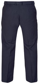 D555 donker blauwe elegante stretch pantalon met knoop - haaksluiting en riemlussen, een mooi weg gewerkte elastische tailleband, 2 steekzakken aan de voorzijde en 2 zakken met knoopsluiting aan de achterkant.Beschikbare lengte: 33 Inch