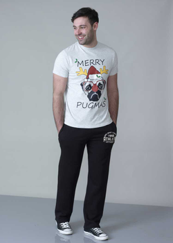 "Kerst T-shirt ""PUG"" van D555"
