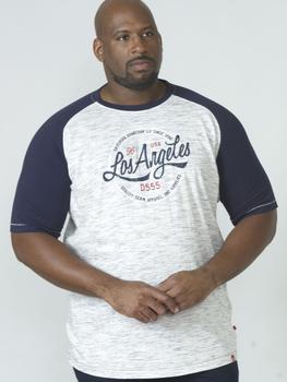 """T-Shirt """"Judson"""" van merk D555 in de kleur navy-reno, gemaakt van poly-cotton."""