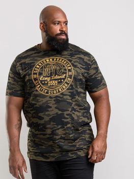 T-Shirt met camouflage print