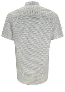 Overhemd met korte mouwen van Melvinsi uitgevoerd in een regular fit model. Wit overhemd met print, klassieke kraag en witte knopen. Op de linker borst zit een open borstzak. Het overhemd is rond afgezoomd. Mooi zomers overhemd die u kunt dragen op de warme lente en zomerdagen.