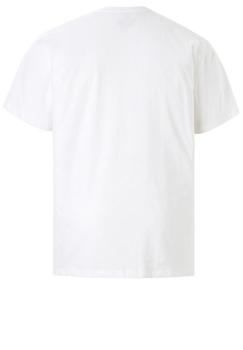Wit T-shirt van Melvinsi met mooie print en ronde hals. Gemaakt van zacht katoen voor optimaal draagcomfort.