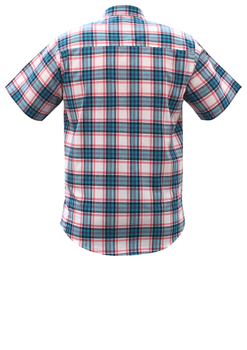 Overhemd met korte mouwen van Melvinsi uitgevoerd in een regular fit model. Rood met blauw geruit overhemd met button kraag en witte knopen. Op de linker borst zit een open borstzakje met logo. Het overhemd is rond afgezoomd. Mooi zomers overhemd die u kunt dragen op de warme lente en zomerdagen.