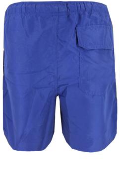Effen zwemshort van het merk Royal Berkshire met logoprint op de linker broekspijp. De broek heeft twee steekzakken en een achterzak met klepje en klittenband. De elastische tailleband, het erin verwerkte koord en de binnenslip geven de broek een aangename zit.
