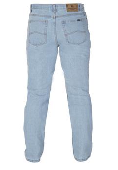 Rockford blauwe jeans met ritssluiting. 2 Steekzakken en een muntzakje voor en 2 ruime opgezette achterzakken.