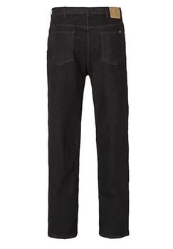 """Zwarte Rockford stretch jeans met ritssluiting. Twee ruime achterzakken met contrasterend stiksel en een rits de broek heeft rechte pijpen. 2 steekzakken voor en 2 opgezette zakken met muntzakje.  Beenlengte 34""""."""