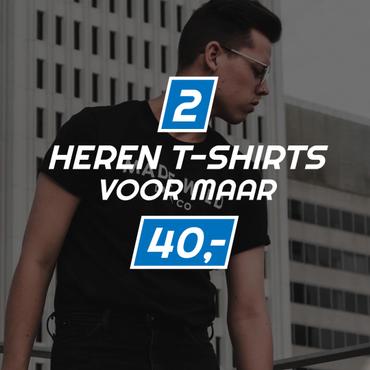 2 t-shirts voor 40