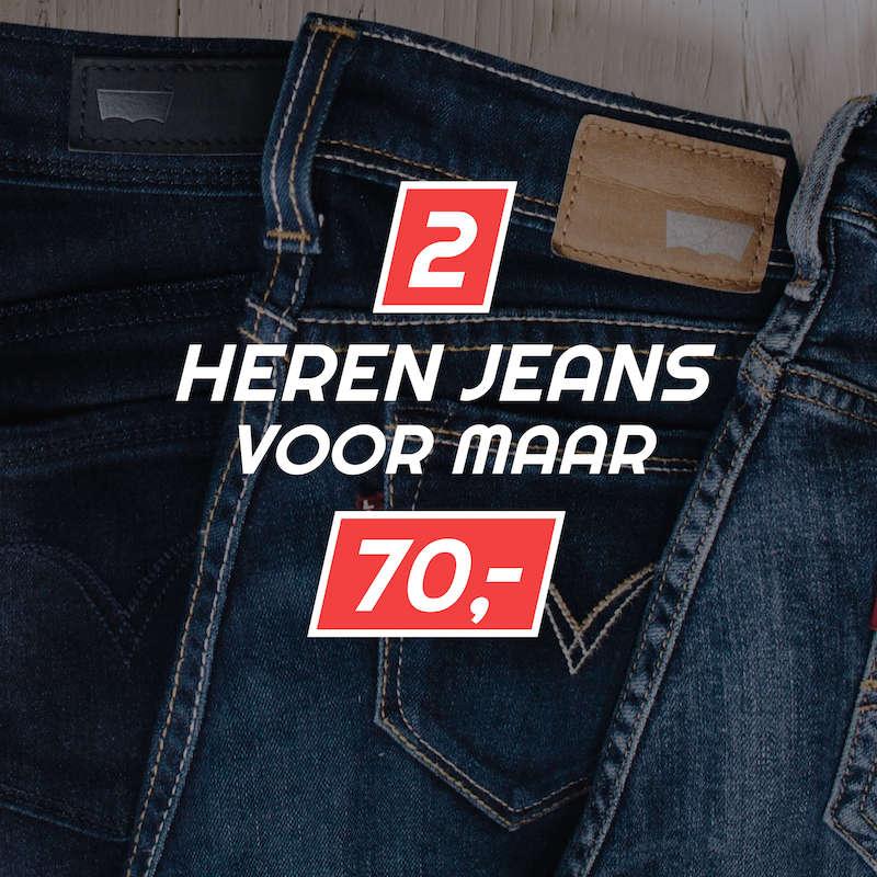 Jeans 2 voor 70 euro