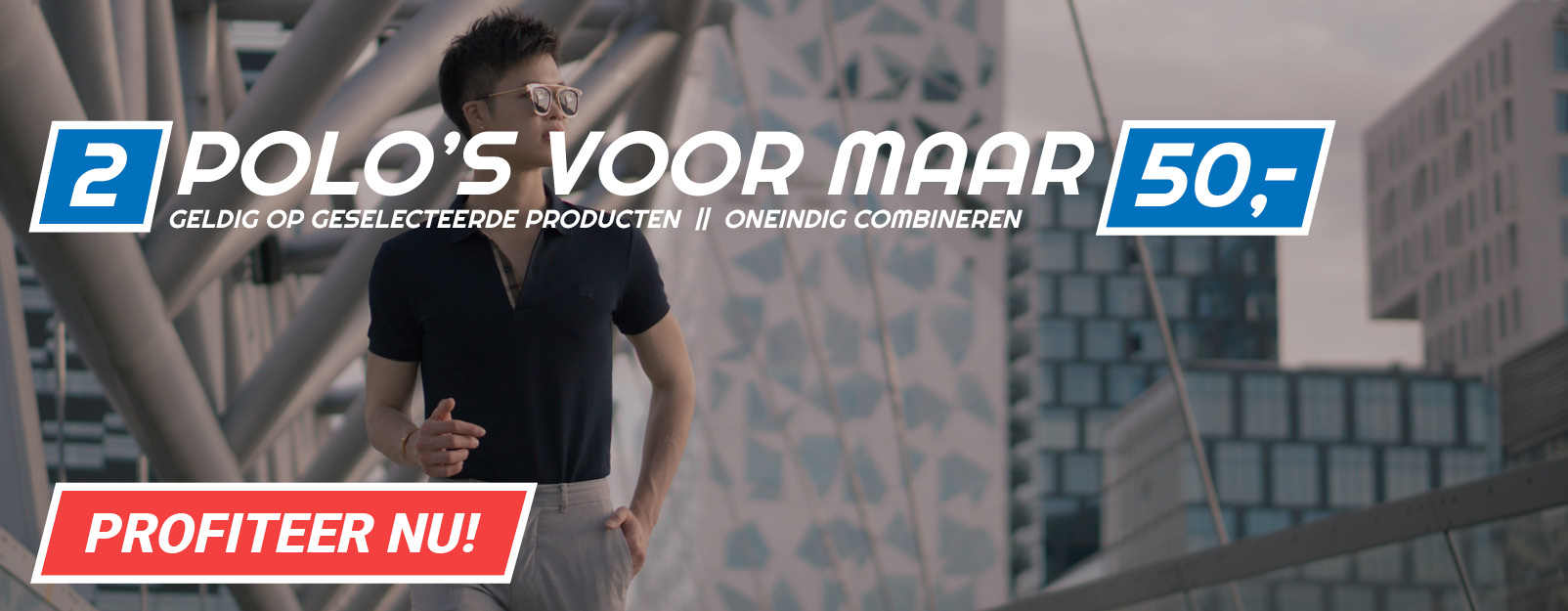 Polo's: 2 voor 50 euro