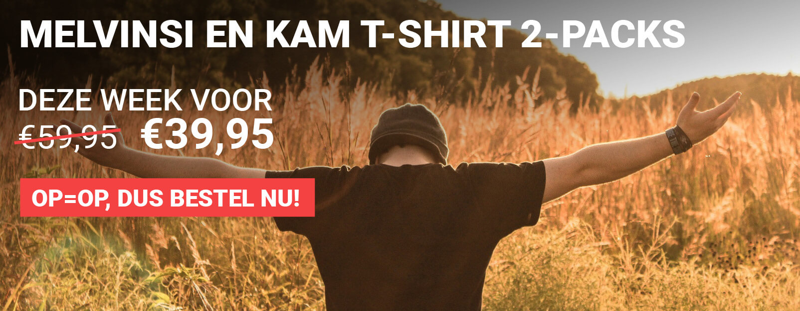 Melvinsi en KAM T-shirt 2-packs, voor €39,95!