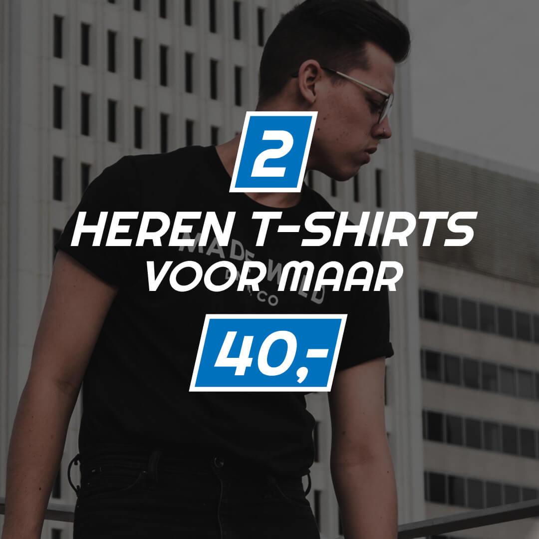 T-shirts: 2 voor 40 euro