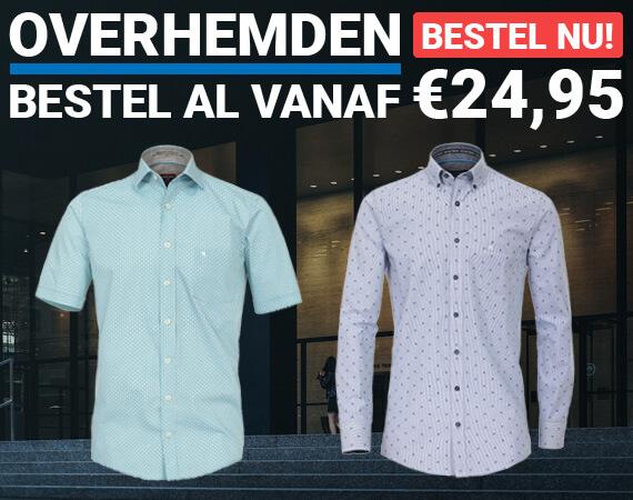 Overhemden, vanaf 24,95!