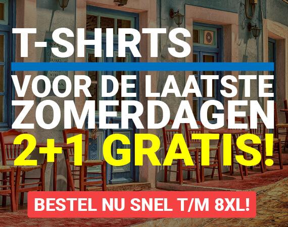 T-shirts, voor de laatste zomerdagen!