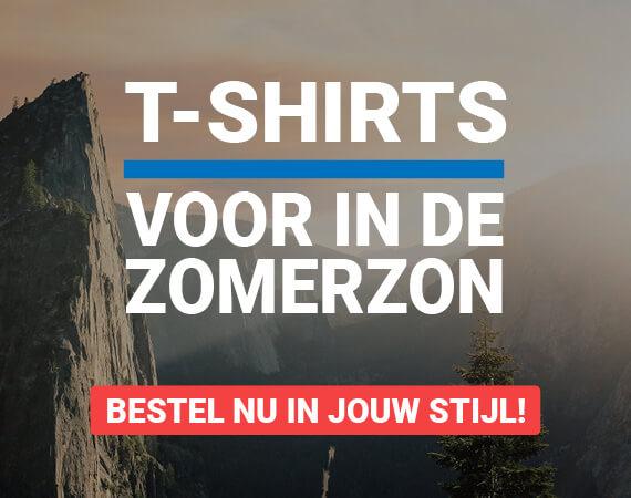 T-shirts voor in de zomerzon!