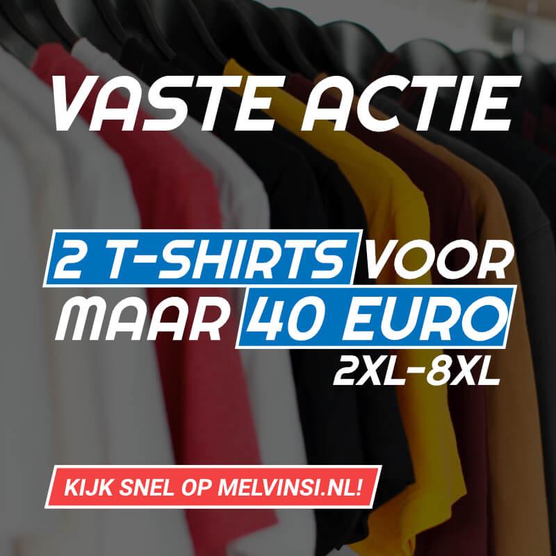 2 t-shirts voor 40 euro