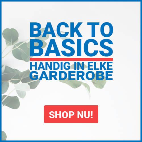 Basics, handig in elke garderobe!