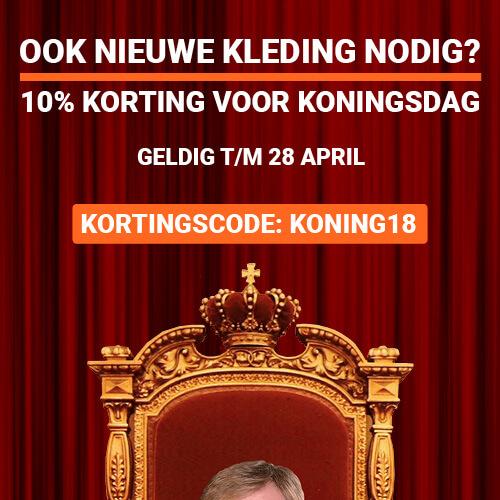 10% Koningsdagkorting!