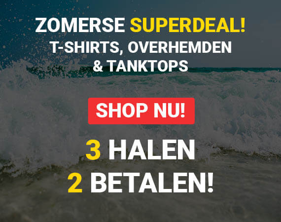 T-shirts, Overhemden & Tanktops: 3 Halen 2 Betalen!