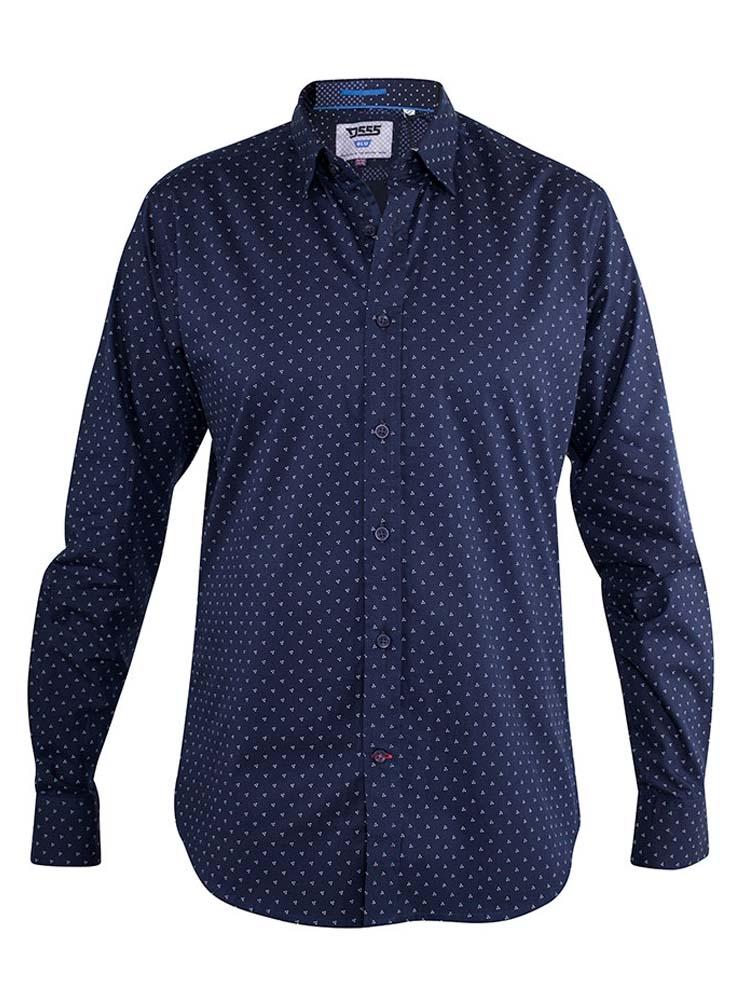 """overhemd """"Augusta"""" van merk D555 in de kleur dark navy, gemaakt van 100% katoen."""