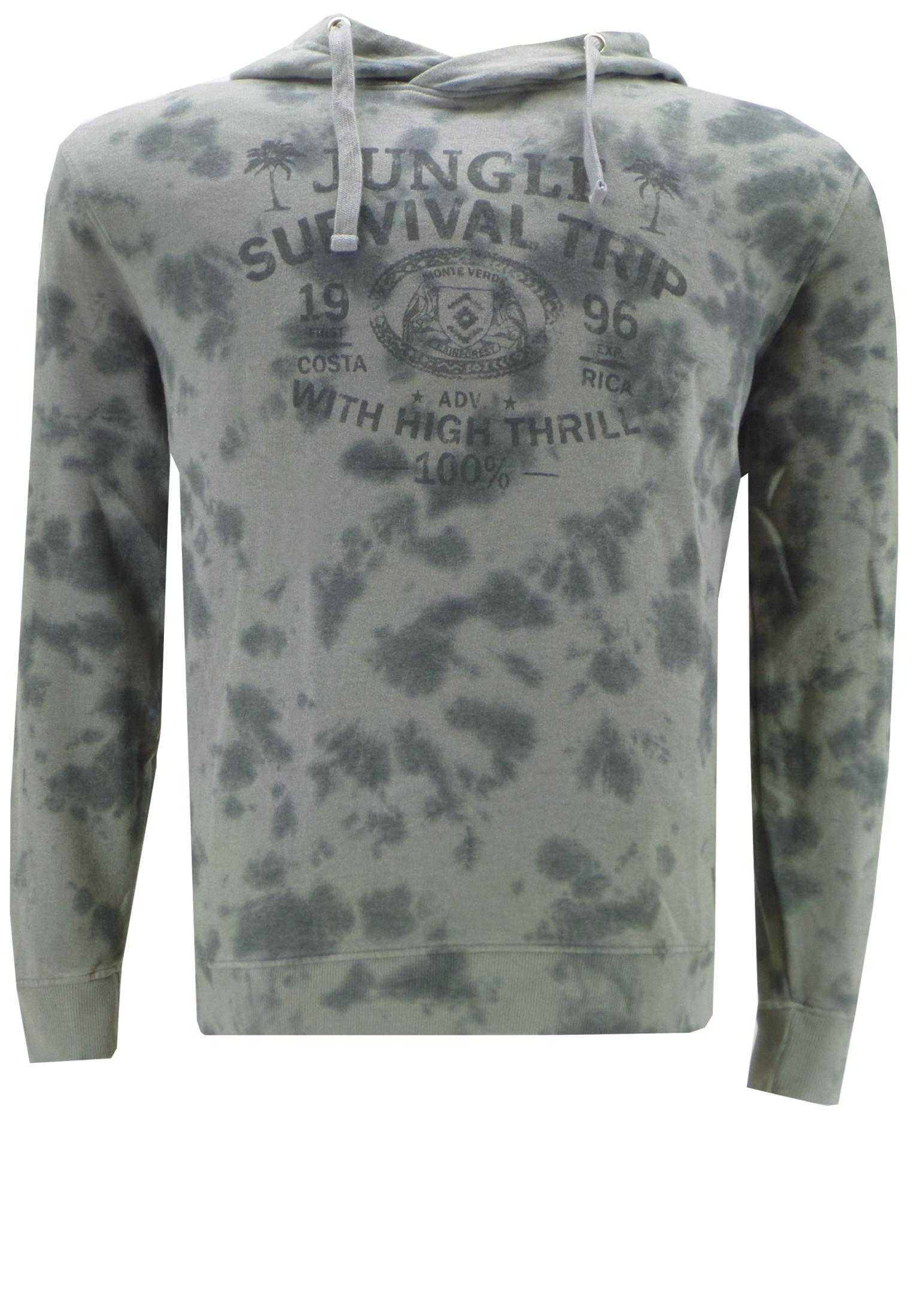 Houd u van hiken en buitensport dan is dit stoere en jeugdige sweatshirt met capuchon een must-have. De camouflage kleuren en print geven dit shirt net de juiste uitstraling.