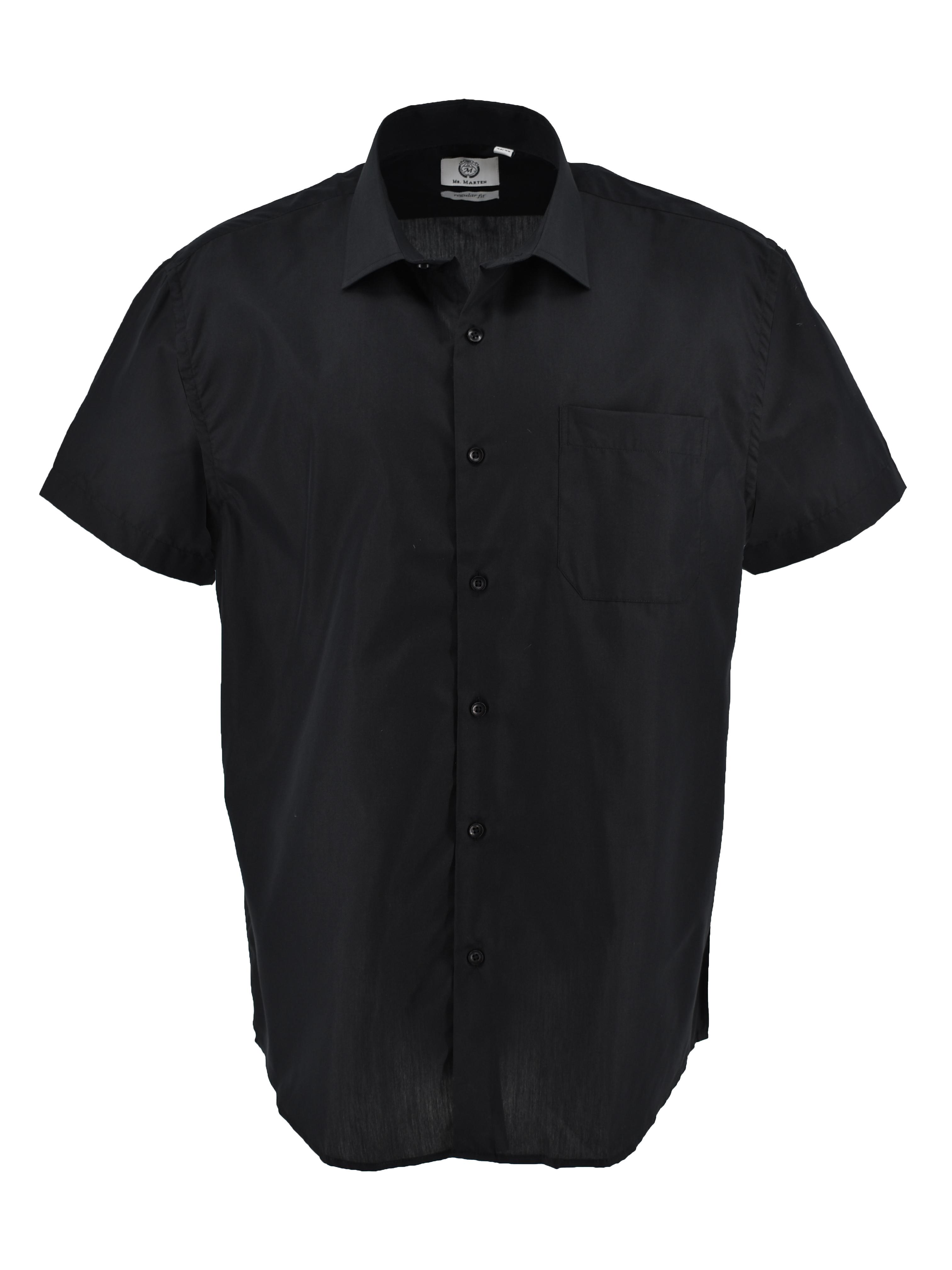 Mooi zwart overhemd met korte mouwen. Borstzakje op de linkerborst.