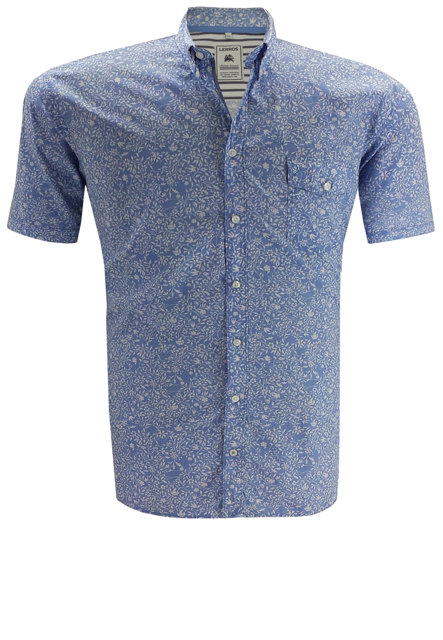 Gebloemd Overhemd.Lerros Overhemd 2xl 4xl Blauw Bestel Nu Bij Melvinsi