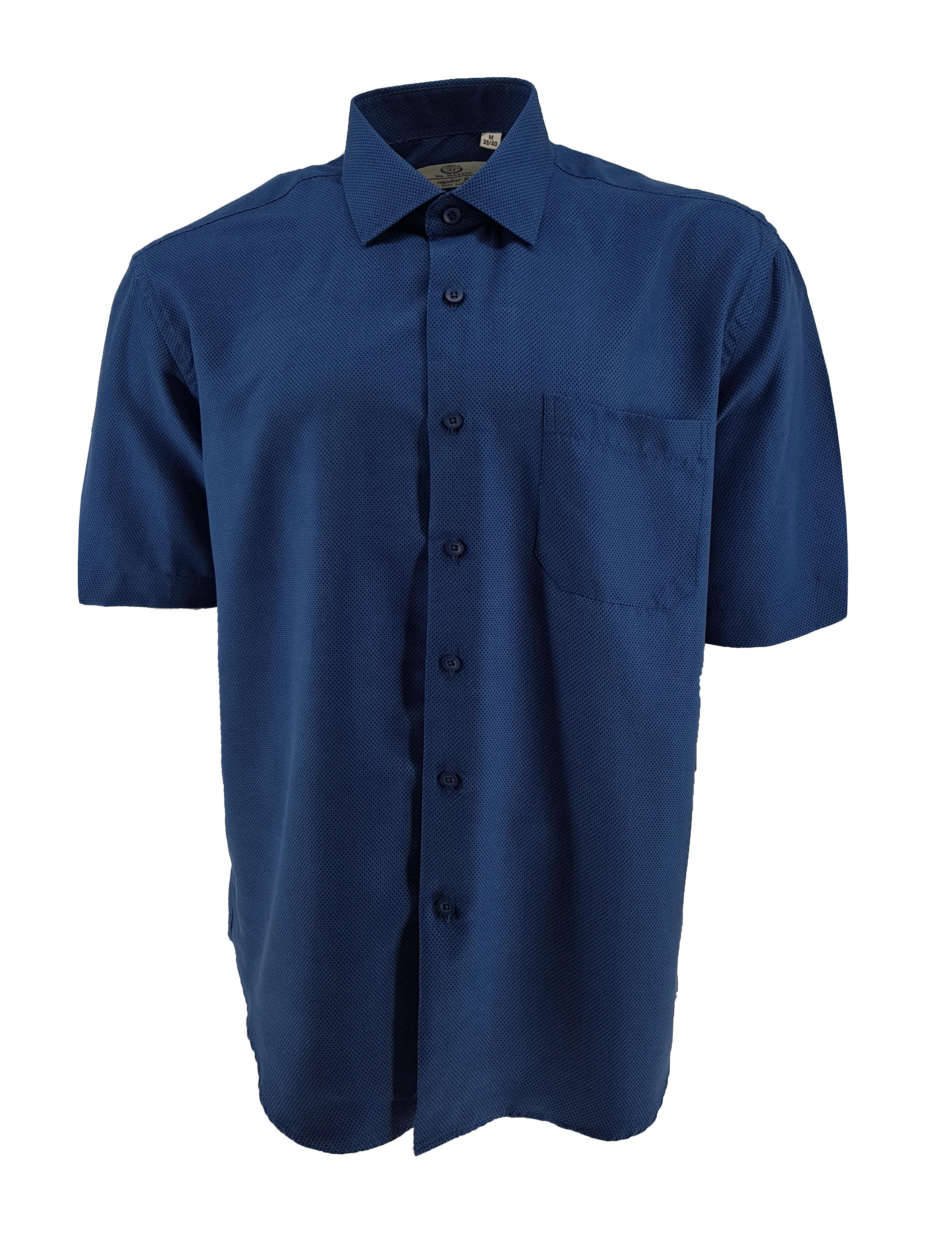 Overhemd van Mr. Marten Easy care, regular fit, hele fijne zachte stof. Borstzakje op de linkerkant, korte mouw.