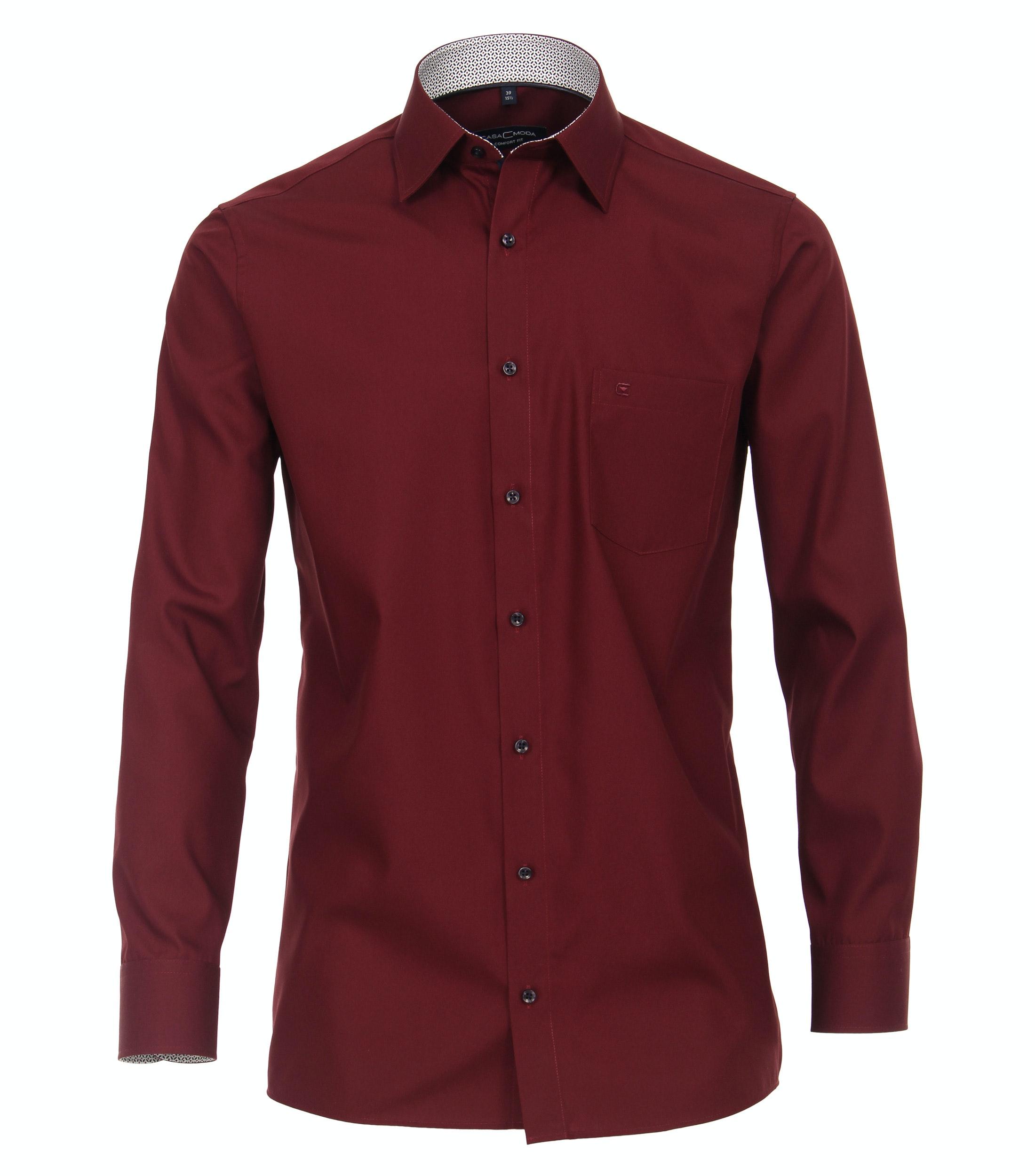 overhemd van merk CASA MODA in de kleur rood, gemaakt van 100% katoen. Dankzij de comfortabele snit en de puur katoenen stof heeft dit modieuze business-overhemd aangename draageigenschappen. De modieuze patroonrand maakt het klassieke overhemd tot een echte blikvanger. Of het nu met een stropdas en een broek is of in combinatie met een chino, dit overhemd is gegarandeerd een slimme verschijning.