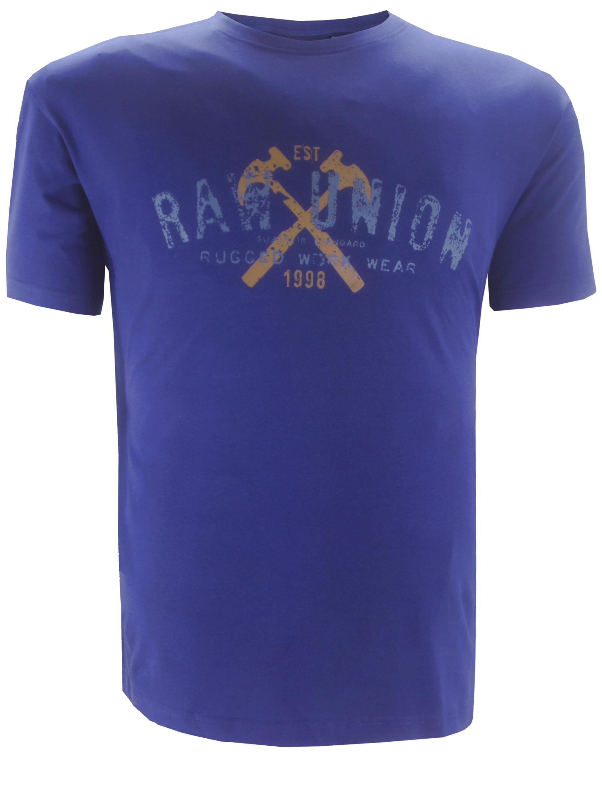Replika t-shirt met ronde hals met een print op de voorzijde.