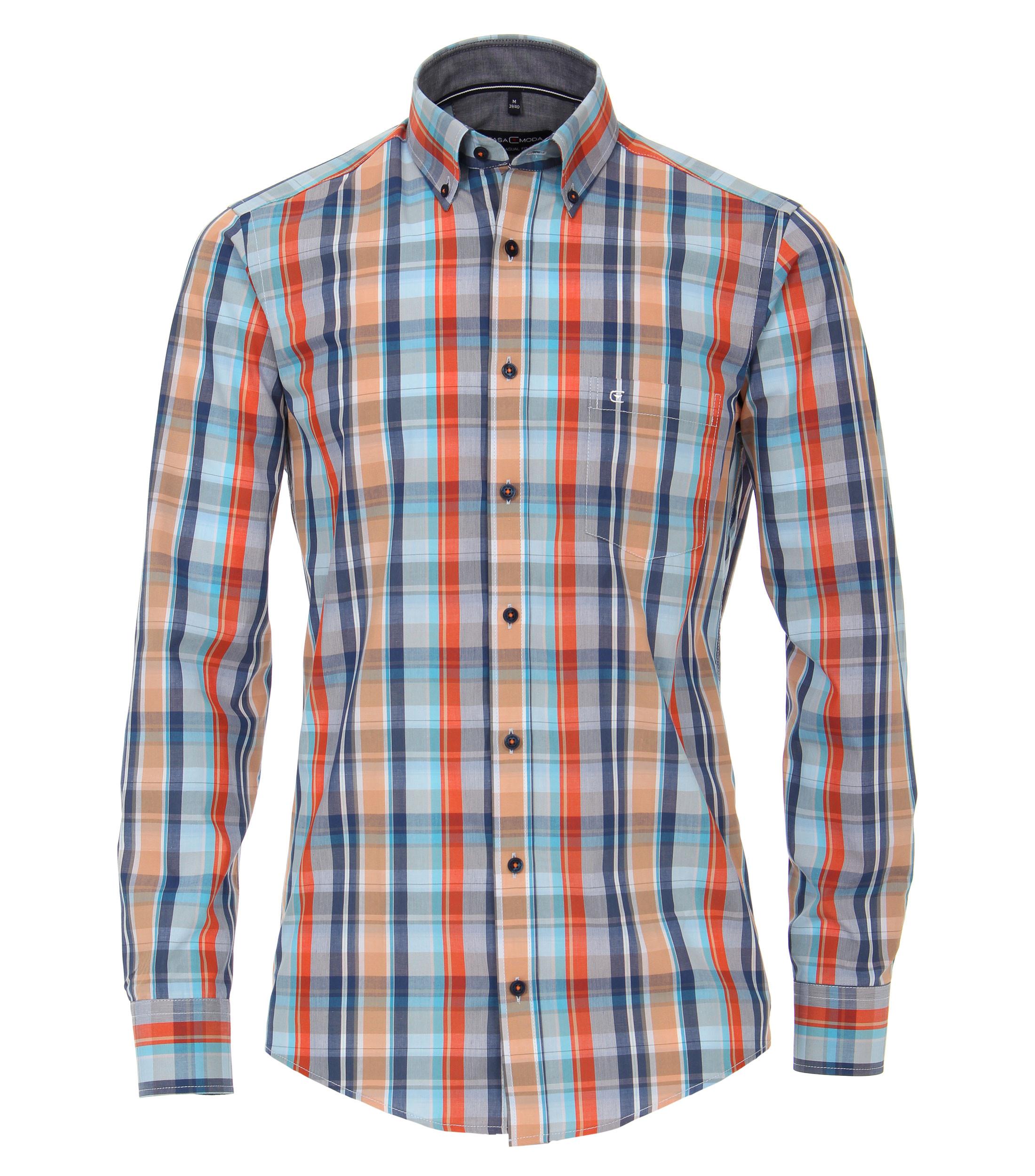 Casual overhemd van merk Casa Moda in div.kleuren, gemaakt van 100% katoen.