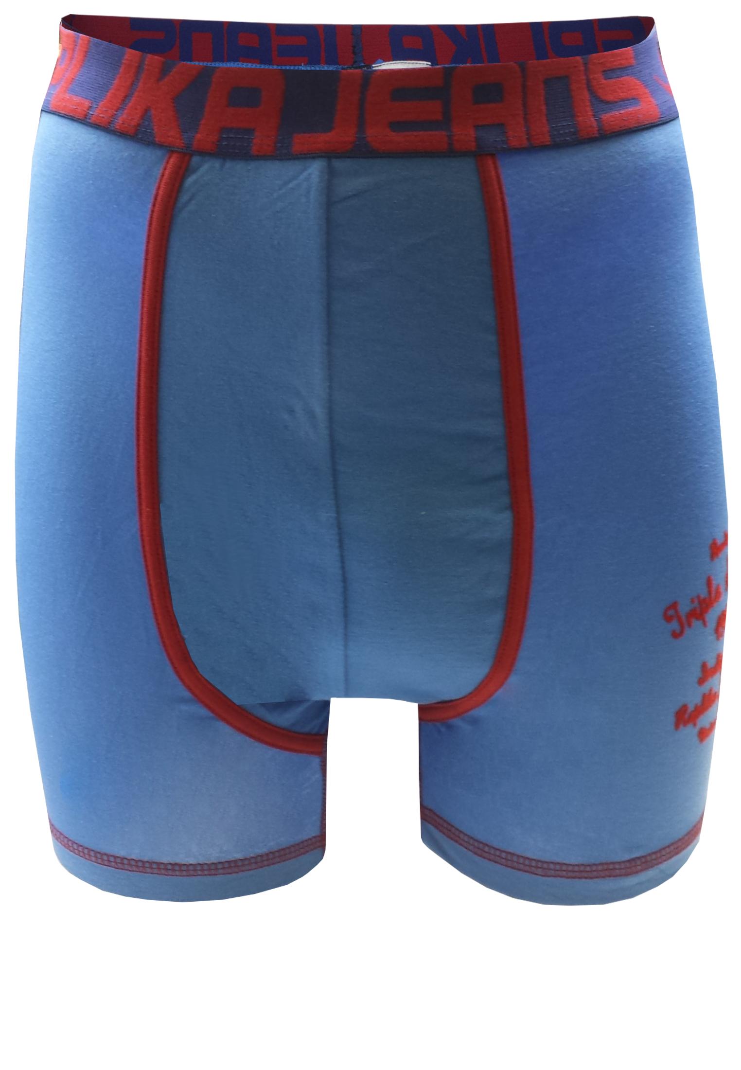 Effen Replika boxershort met een contrasterende stof langs het verstevigde kruis, een vilten print op de linker pijp en een brede elastische tailleband met merklogo voor een optimale pasvorm.