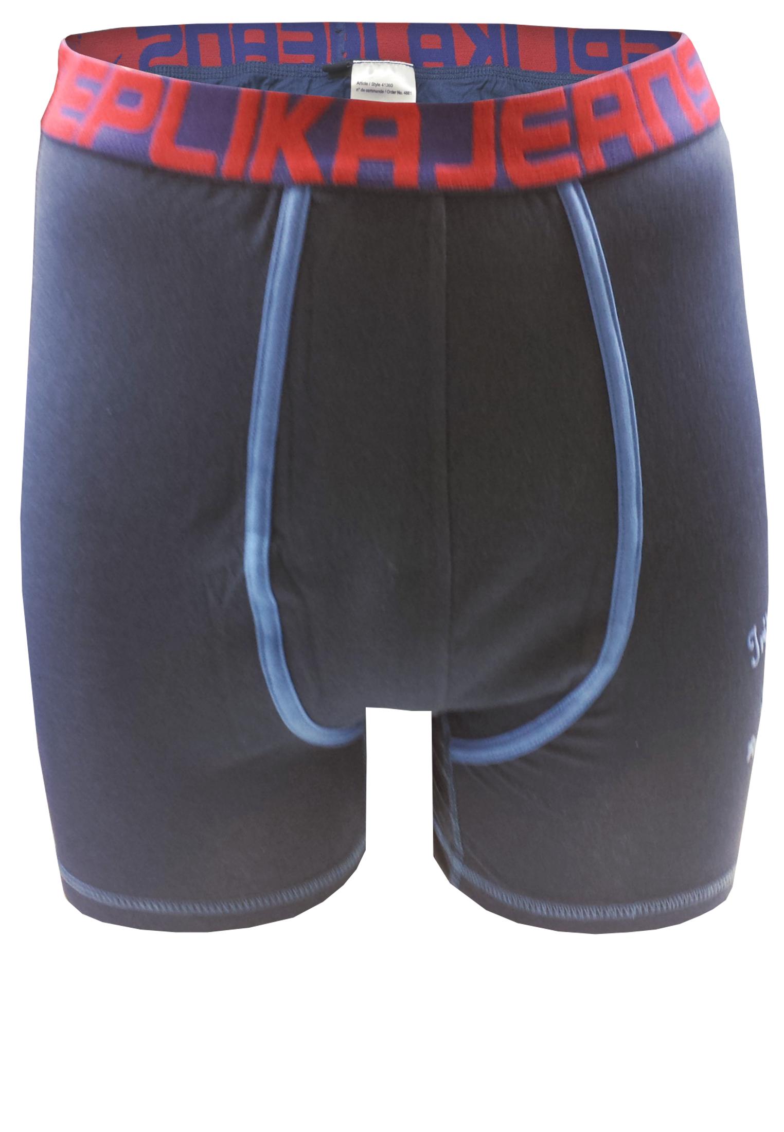 Effen, navy Replika boxershort met een contrasterende stof langs het verstevigde kruis, een vilten print op de linker pijp en een brede elastische tailleband met merklogo voor een optimale pasvorm.