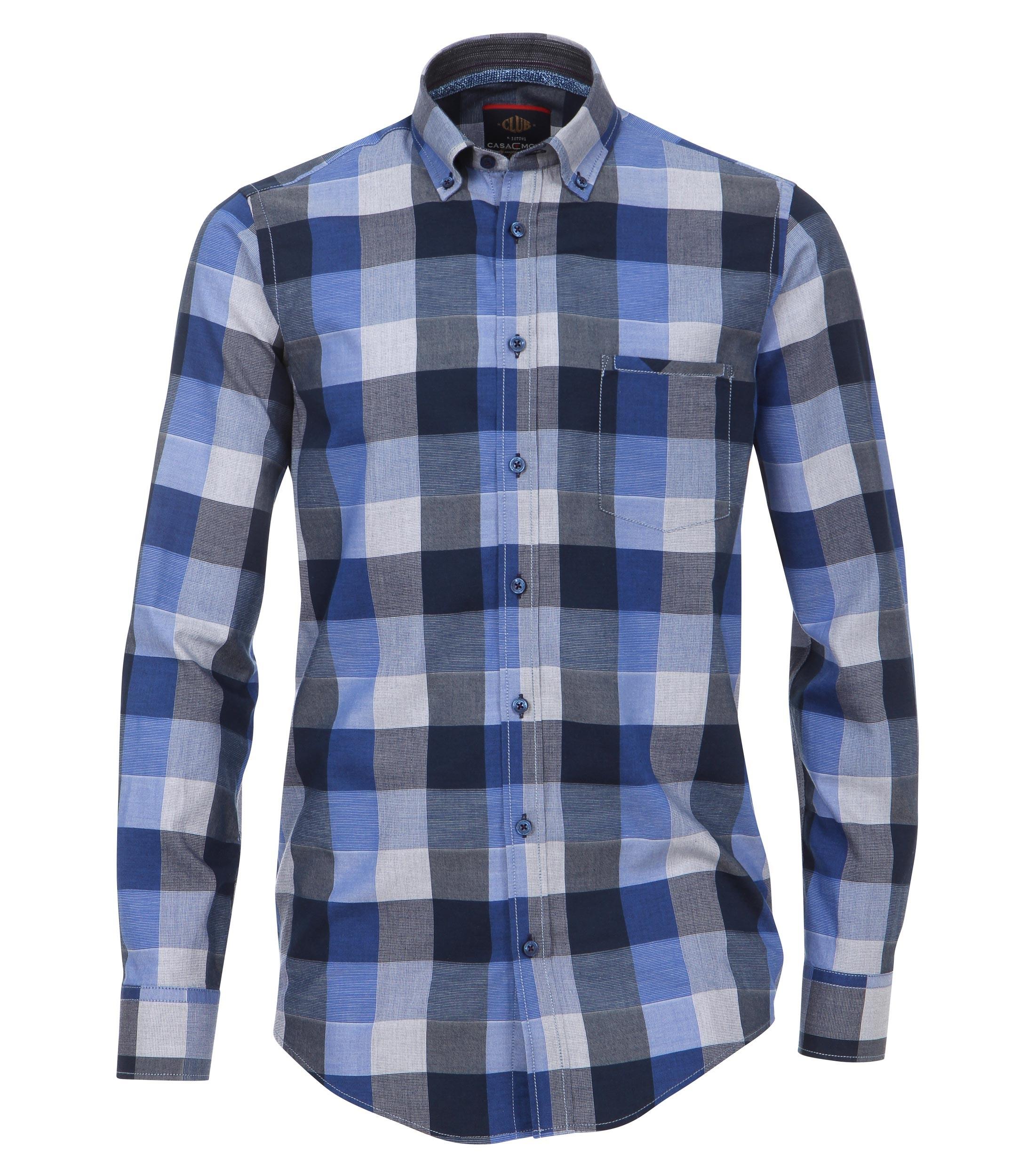 Geblokt Overhemd.Casa Moda Overhemd 2xl 6xl Blauw Bestel Nu Bij Melvinsi