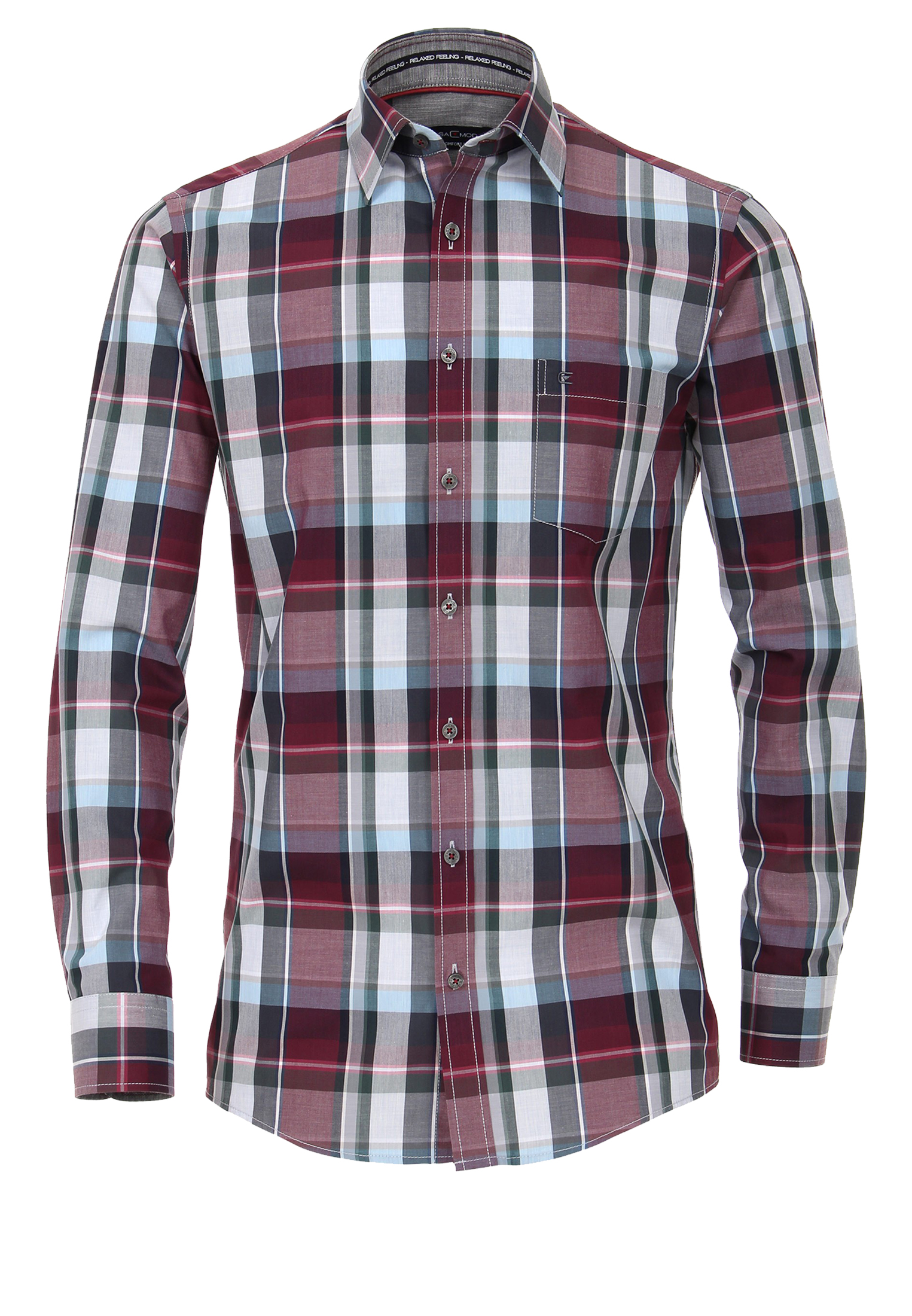Overhemd Rood Zwart Geblokt.Casa Moda Overhemd 2xl 7xl Rood Bestel Nu Bij Melvinsi
