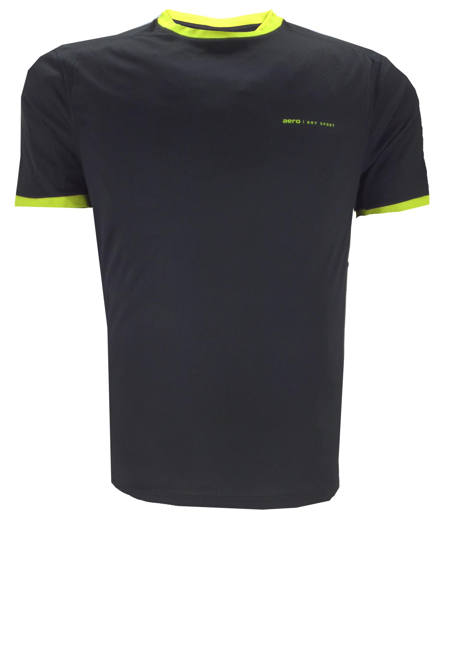 Effen, soepelvallend shirt van Aero, waarvan de ronde hals en de boorden van de korte mouwen in contrasterende kleur zijn uitgevoerd. Het t-shirt is gemaakt van een speciaal ontwikkelde stof die u droog en 'cool' houdt en comfortabel is om te dragen. Kortom het perfecte shirt voor elke sport!