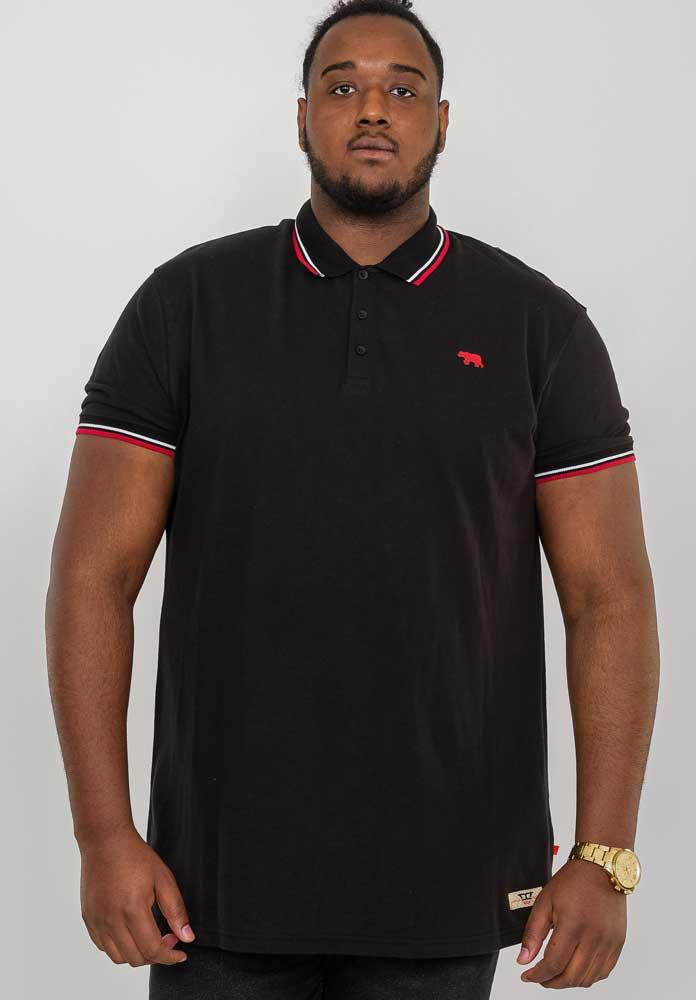 """Polo piquet """"Allante"""" van merk D555 in de kleur zwart, gemaakt van organic cotton."""