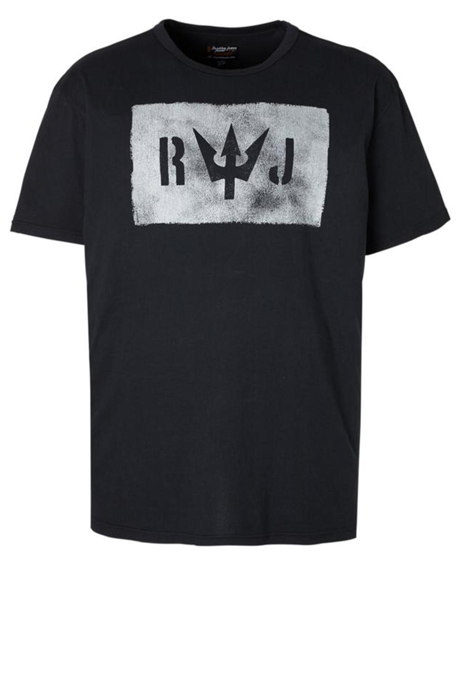 Zwart T-shirt van Replika met mooie print en ronde hals. Gemaakt van zacht katoen voor optimaal draagcomfort.