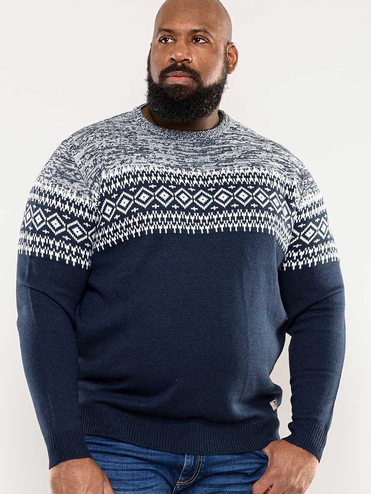 """trui """"Marlon"""" van merk D555 in de kleur blauw, gemaakt van acryl."""