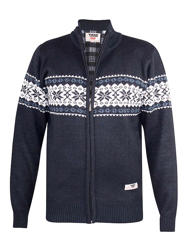 """vest """"Campbell"""" van merk D555 in de kleur navy marl, gemaakt van polyester."""