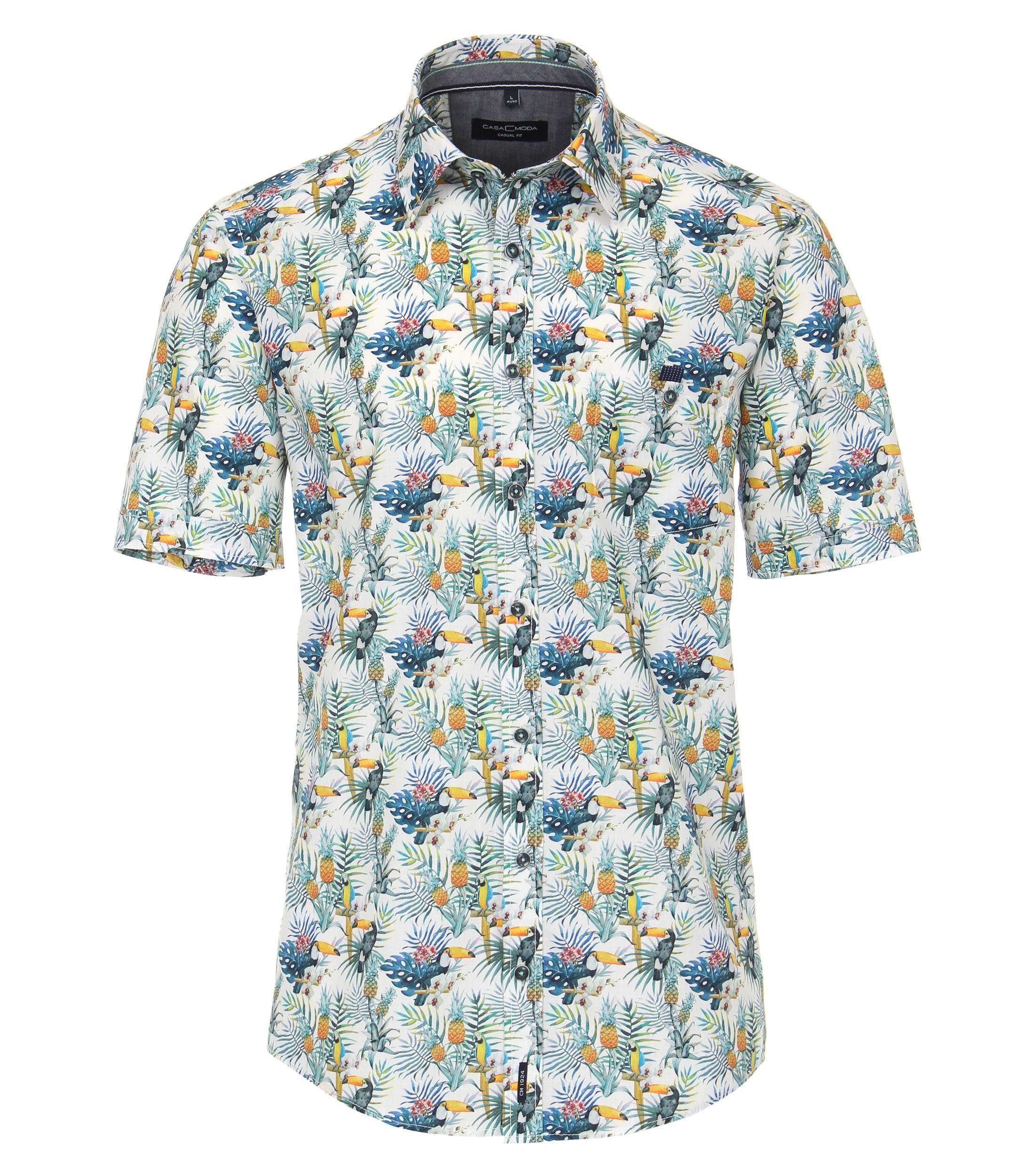 Overhemd van merk CASA MODA in de kleur blauw, gemaakt van 100% katoen. Dankzij de nonchalante snit en de zuivere katoenen stof overtuigt dit modieuze vrijetijdsshirt door zijn comfortabele draageigenschappen. De all-over print zet modieuze accenten en accentueert stijlvol elke vrijetijdslook. Een echte must have voor de modebewuste man. Combineer hem comfortabel met jeans of chino's en begin de dag in stijl.