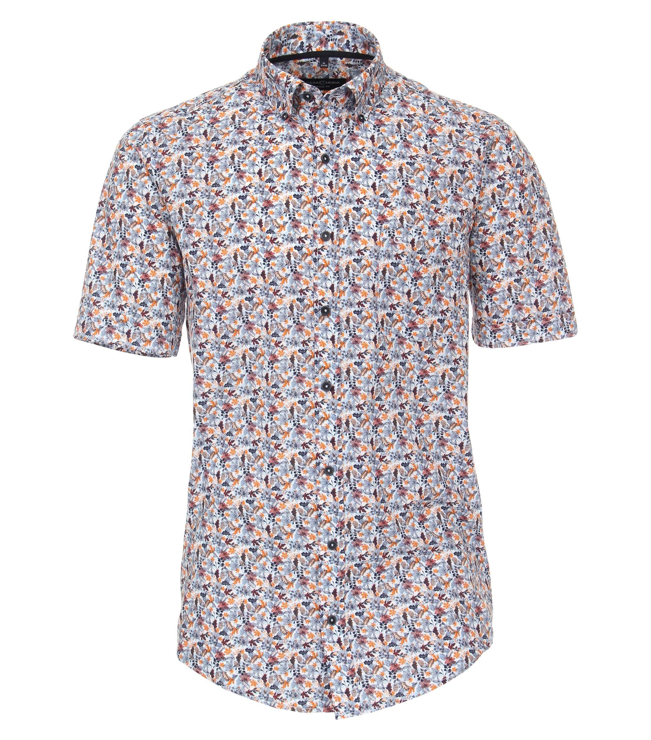 overhemd met korte mouw van merk CASA MODA in de kleur blauw, gemaakt van organic cotton.