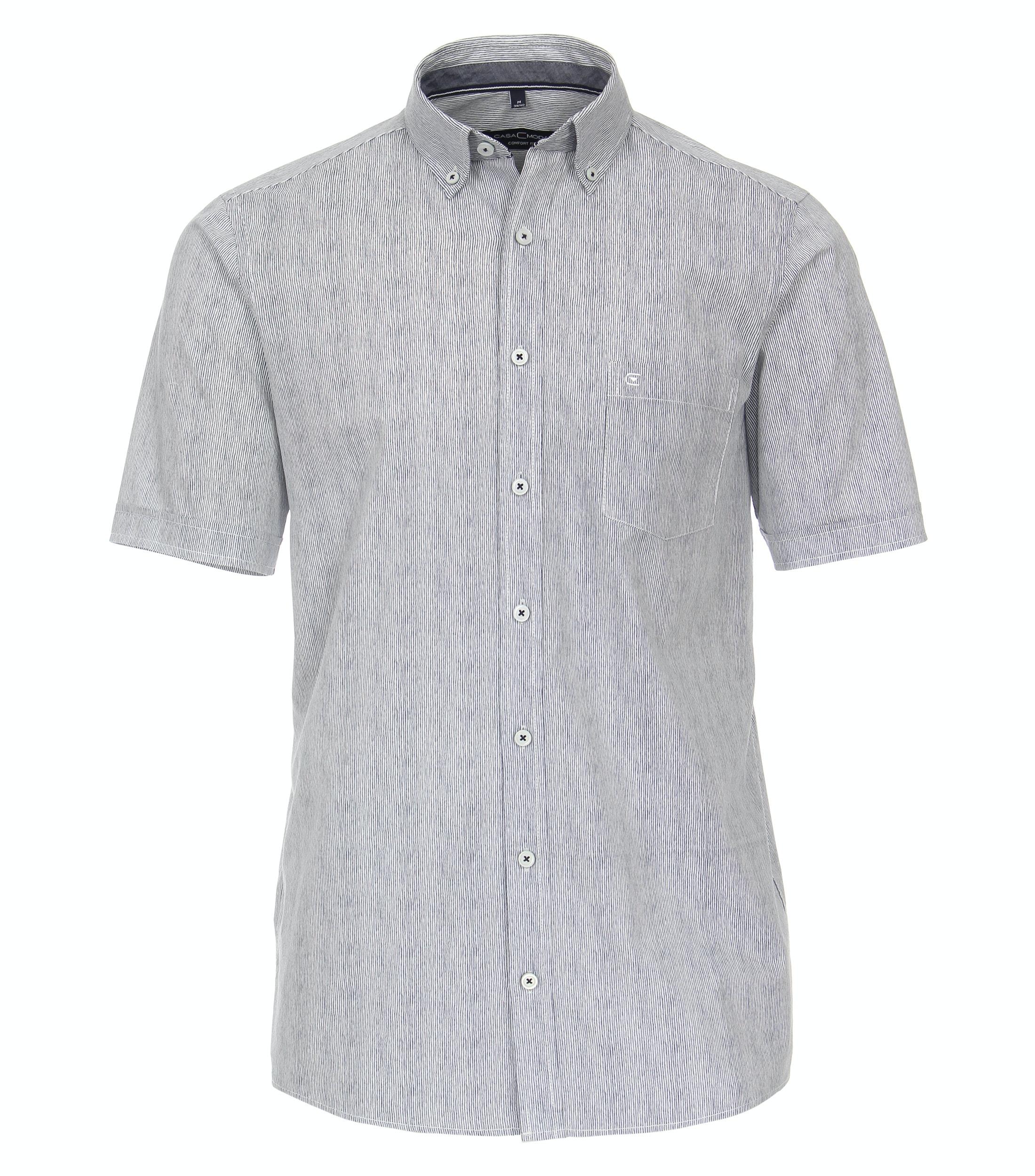 Overhemd van merk CASA MODA in de kleur blauw, gemaakt van 100% katoen.