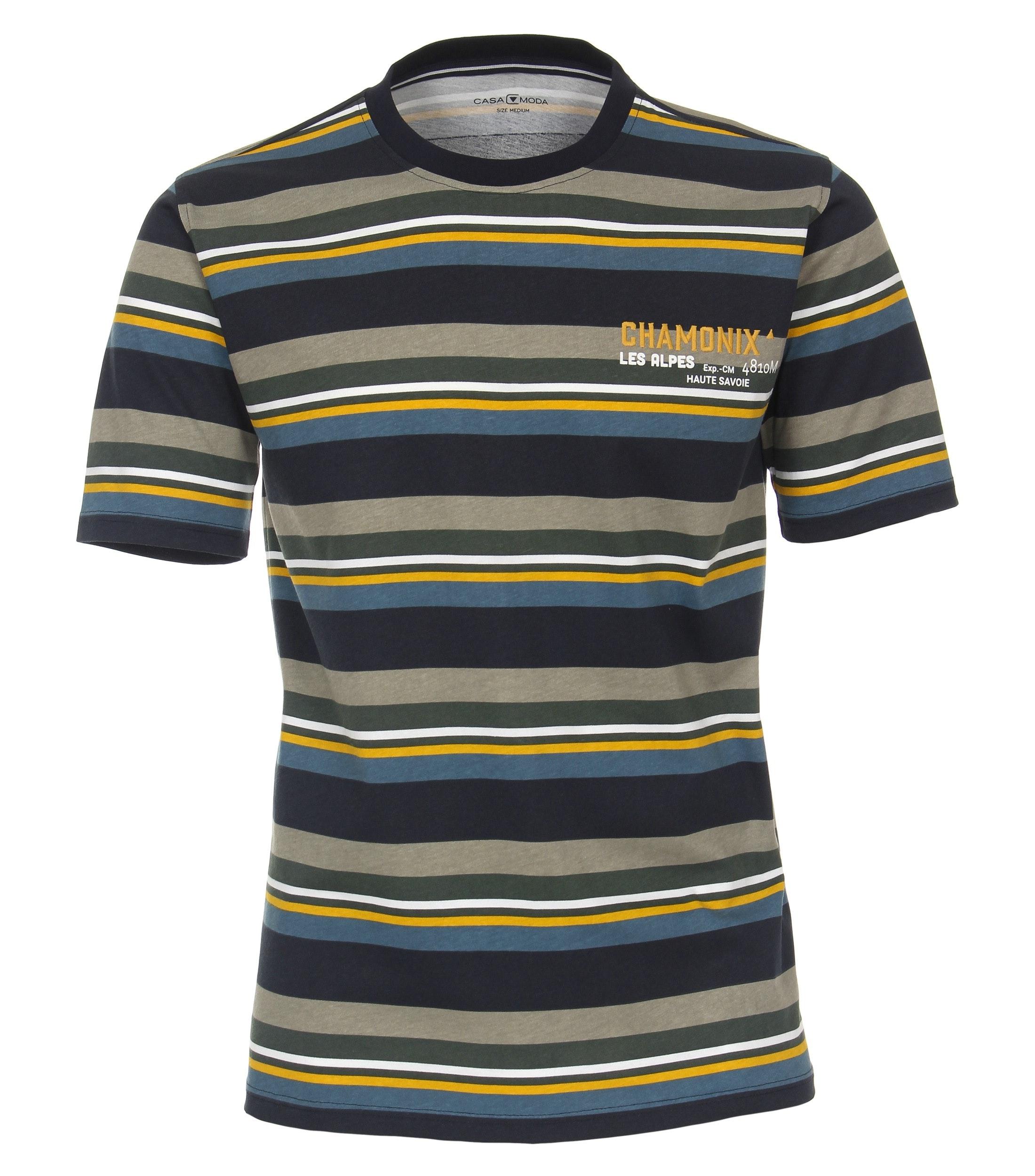 T-shirt van merk CASA MODA in de kleur aqua, gemaakt van 100% katoen.