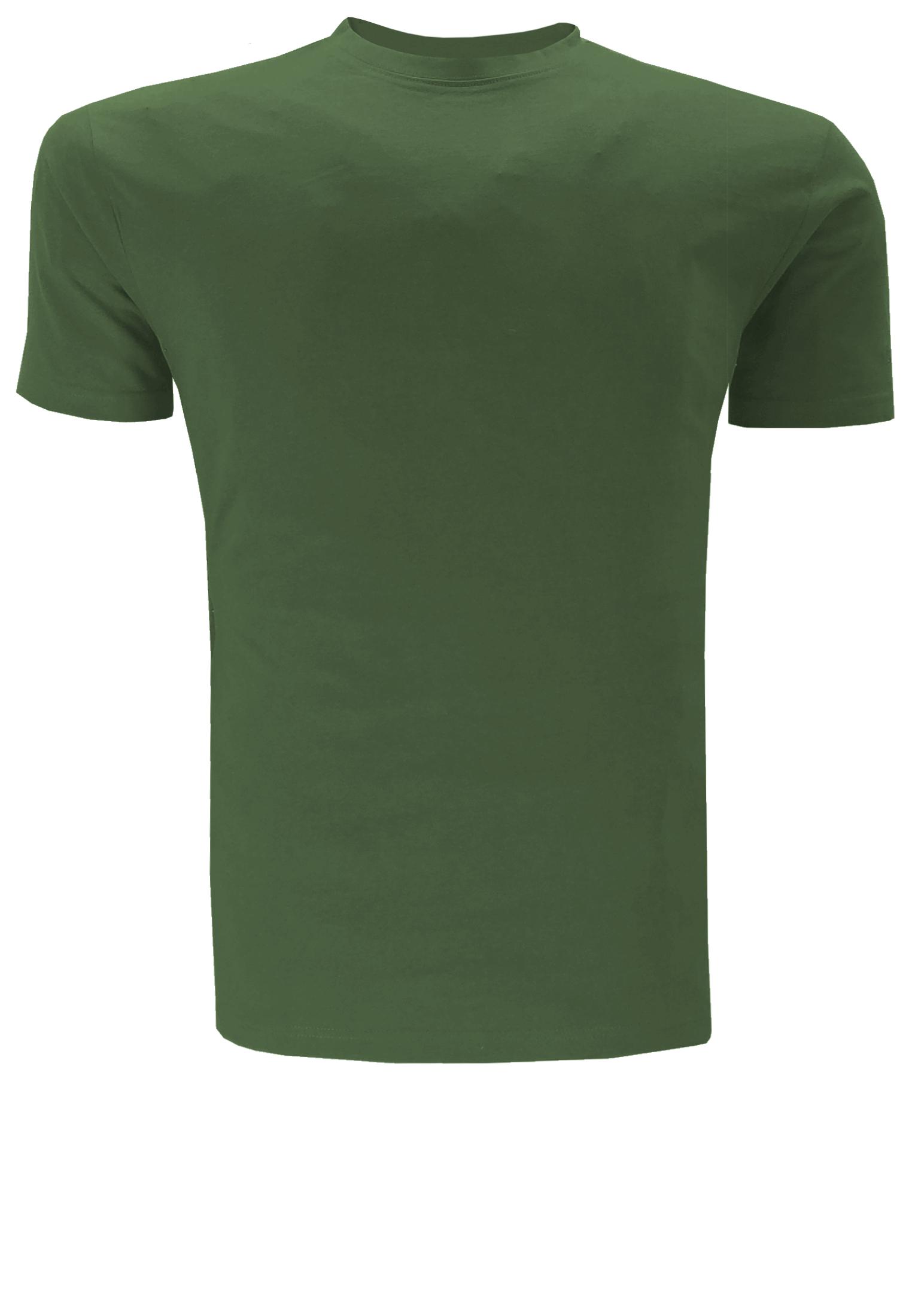 Effen t-shirt met ronde hals, een geborduurd merklogo op de linker mouw en een contrasterende streep in de kraag.