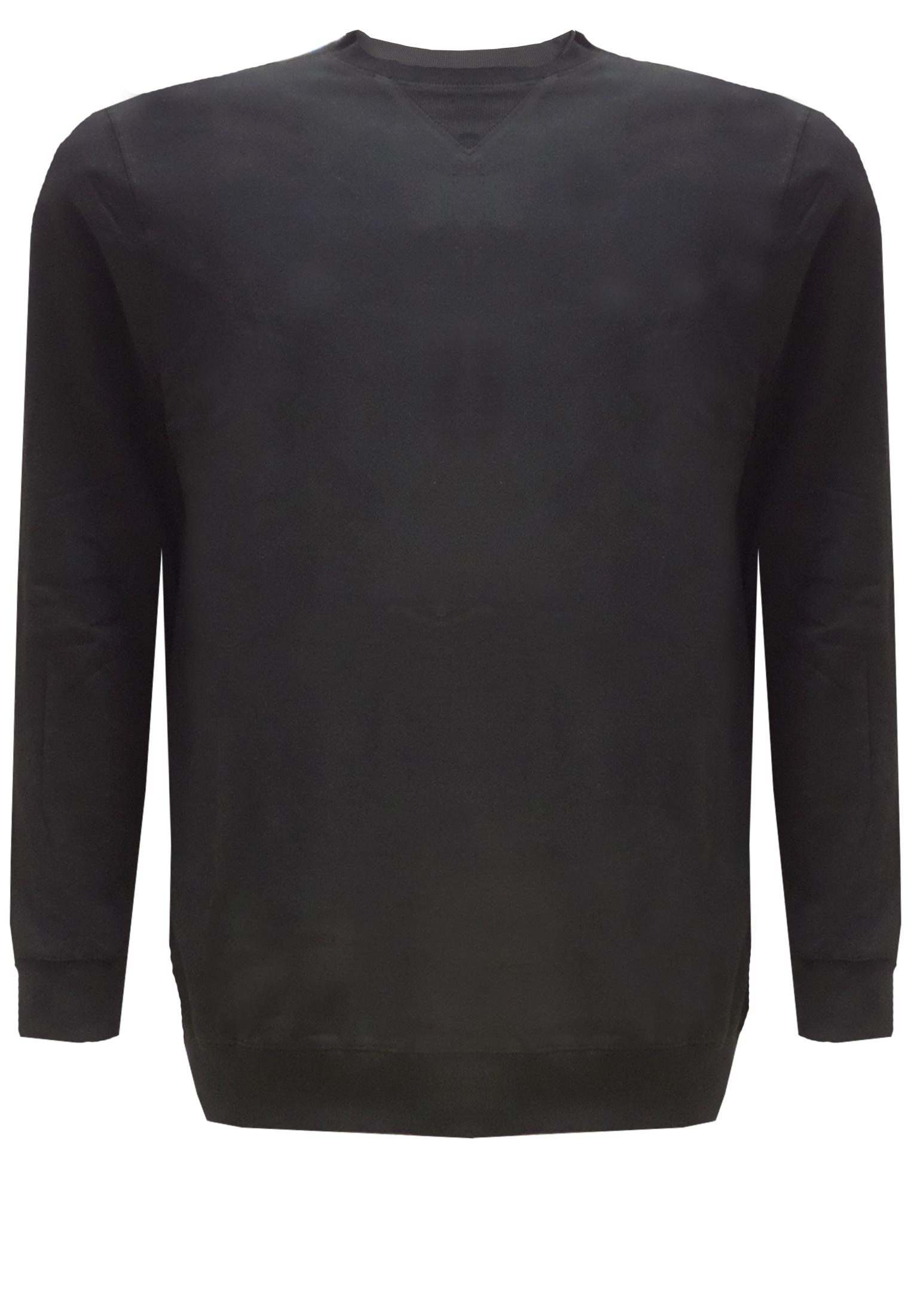 Replika sweater met ronde hals en een stiksel op de hals.