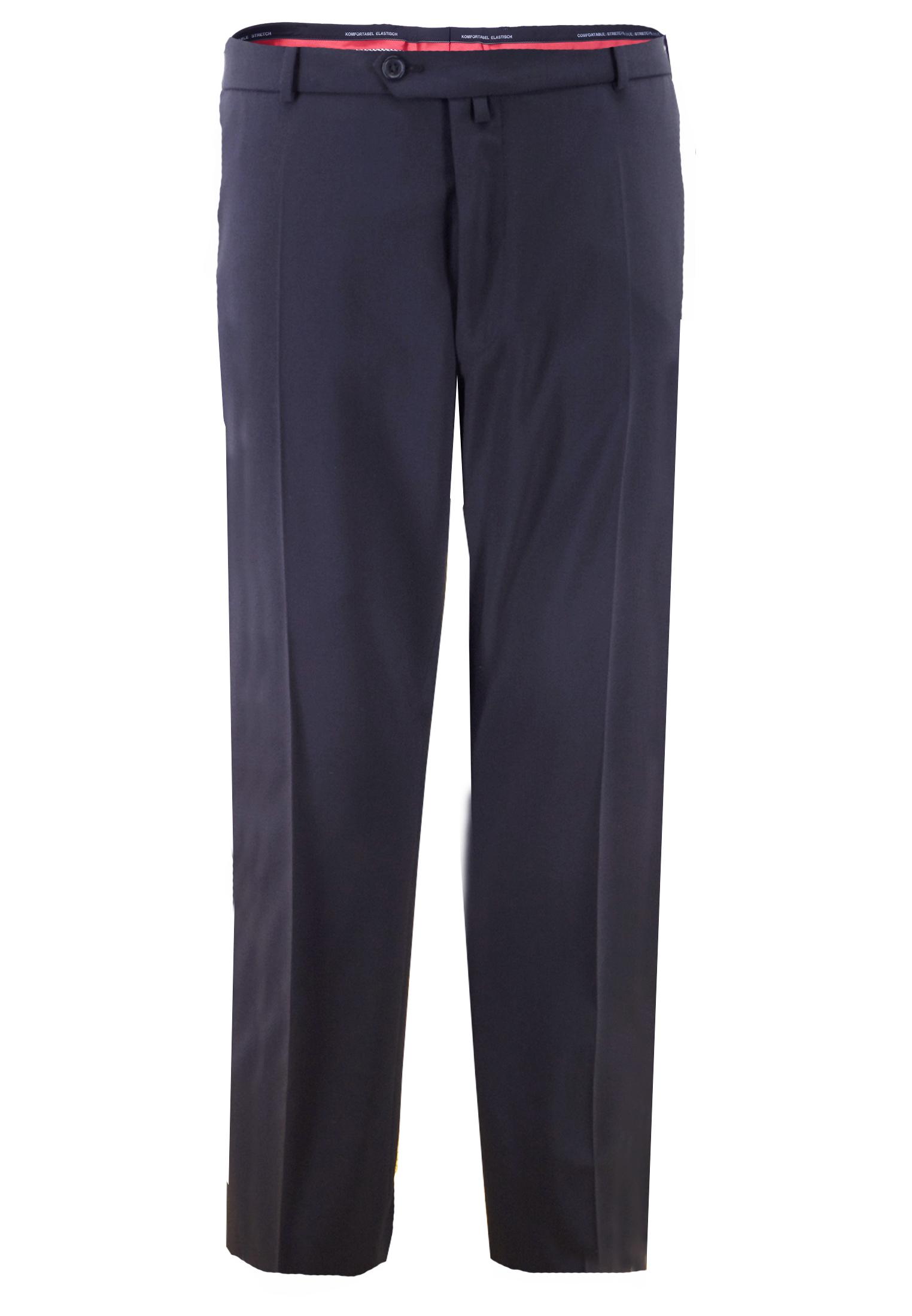 """Klotz heren pantalon Enrico De pantalon is uitgevoerd met een haak-knoop en ritssluiting, riemlussen, 2 steekzakken aan de voorzijde en 2 paspelzakken aan de achterzijde. Het familie bedrijf Klotz maakt al sinds 1949 herenmode met een sublieme pasvorm. De zachte stof (60% zuiver scheerwol) zorgt voor een hoog draagcomfort. De pantalons zijn goed te combineren met de bijpassende colberts """"Stresa"""" uit het Klotz atelier, waarbij u Klotz pantalon combinaties kunt maken uit de kleuren Donker blauw, Antraciet Grijs en Zwart. Van 60% Scheerwol, 38% Polyester Beschikbare lengte: 33 Inch"""
