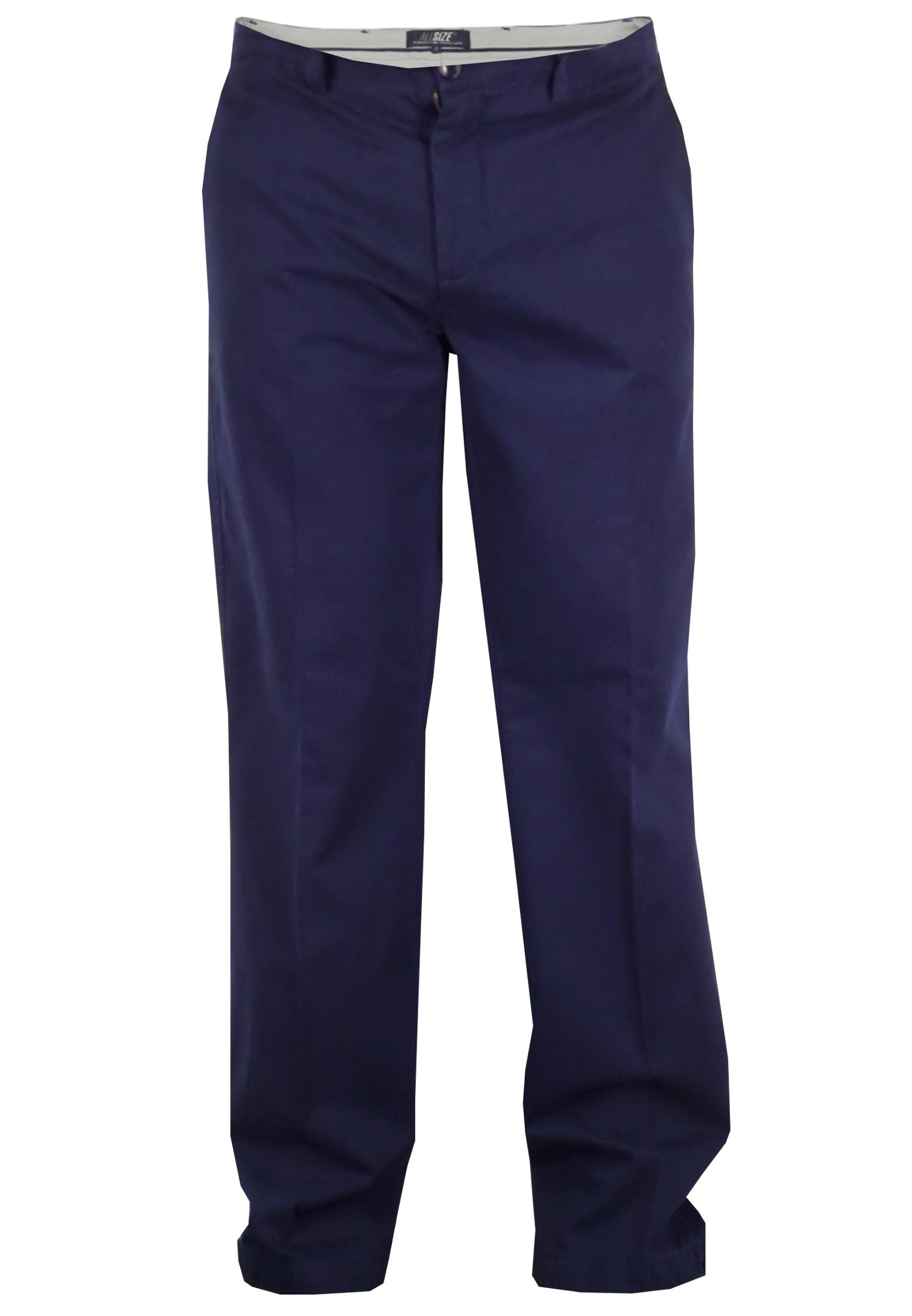 Chino met een tailleband met riem lussen, ritssluiting en knoop. 2 steekzakken voor en 2 achterzakken met knopen. Beschikbare lengte: 35 Inch