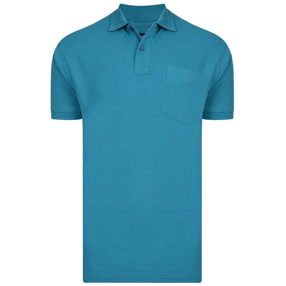 Polo van KAM in de kleur turquoise.